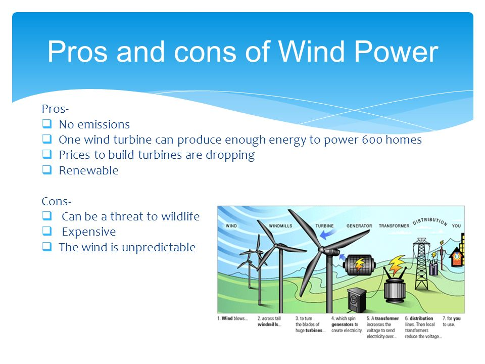 pros cons of wind energy essay Humans can't rely on coal and oil forever, so many people are debating the pros and cons of wind energy could this renewable energy source be the right .