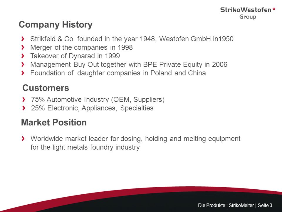 Company History Customers Market Position