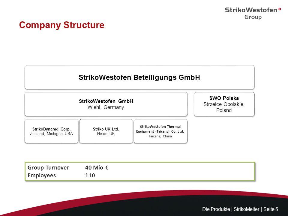 Company Structure StrikoWestofen Beteiligungs GmbH