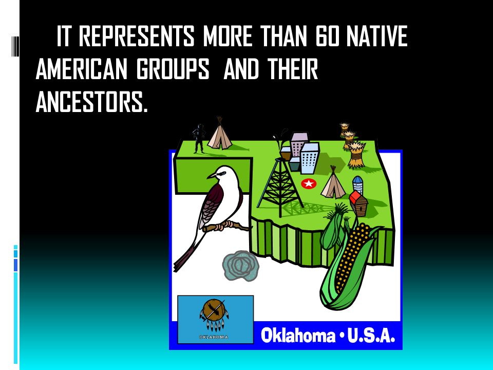IT REPRESENTS MORE THAN 60 NATIVE AMERICAN GROUPS AND THEIR ANCESTORS.