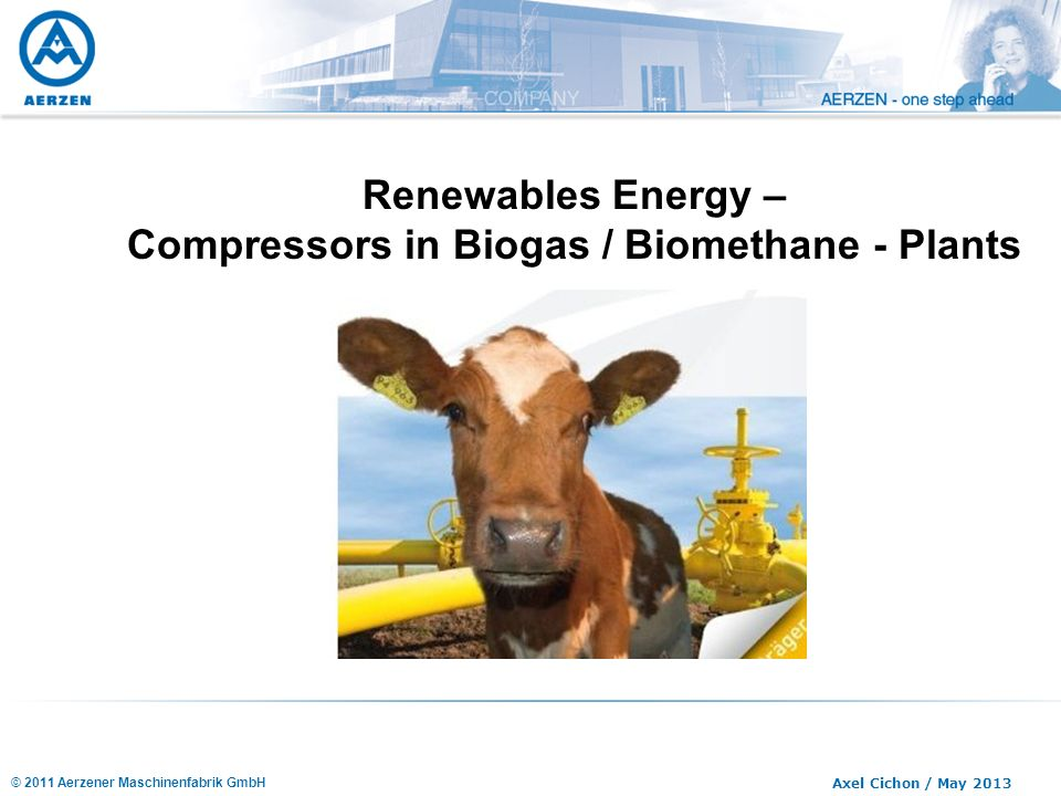 Compressors in Biogas / Biomethane - Plants