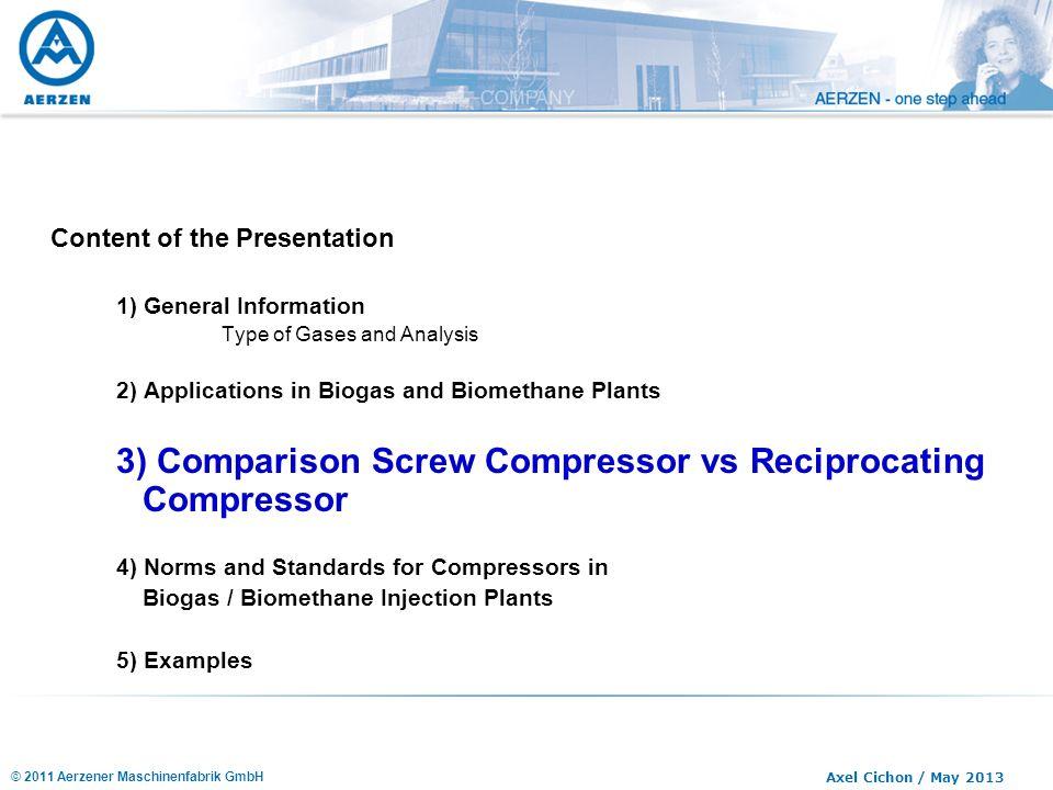 3) Comparison Screw Compressor vs Reciprocating Compressor