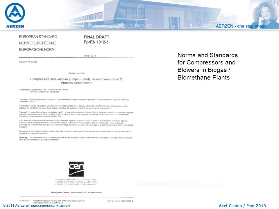 Norms and Standards for Compressors and Blowers in Biogas / Biomethane Plants
