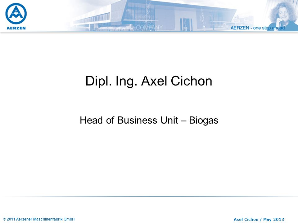Head of Business Unit – Biogas