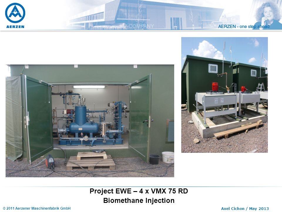 Project EWE – 4 x VMX 75 RD Biomethane Injection