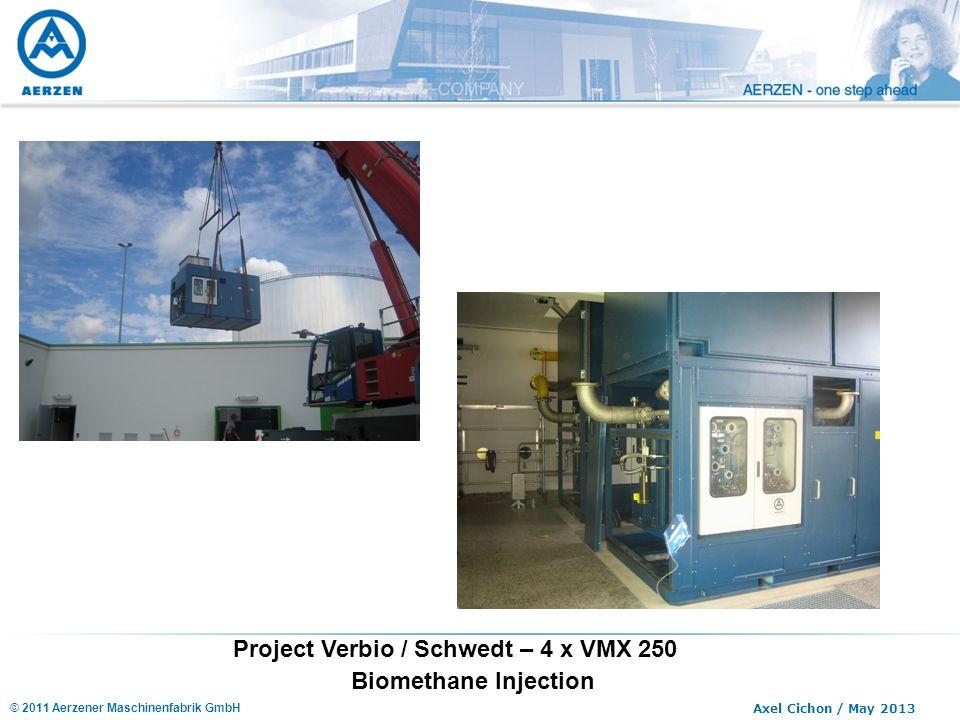 Project Verbio / Schwedt – 4 x VMX 250