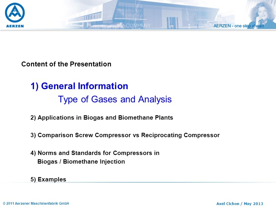 Type of Gases and Analysis