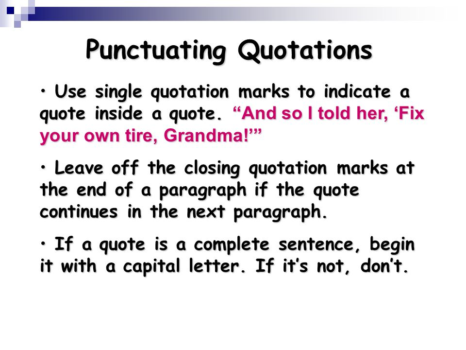 Quotation Marks in Text