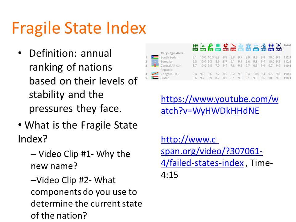 Delightful 3 Fragile State Index Definition: ...