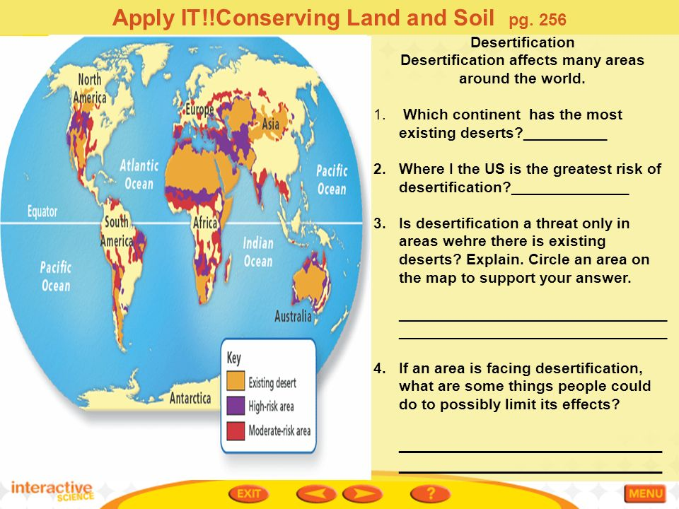 Ch 81 Conserving Land And Soil Ppt Video Online Download - Desertification Us Soil Erosion Map Us
