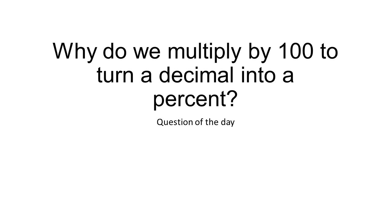 how to change a percent into a decimal
