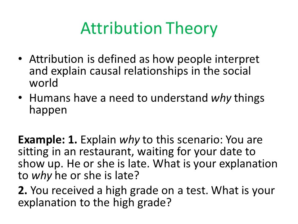 Case study: ATTRIBUTION THEORY - UK Essays
