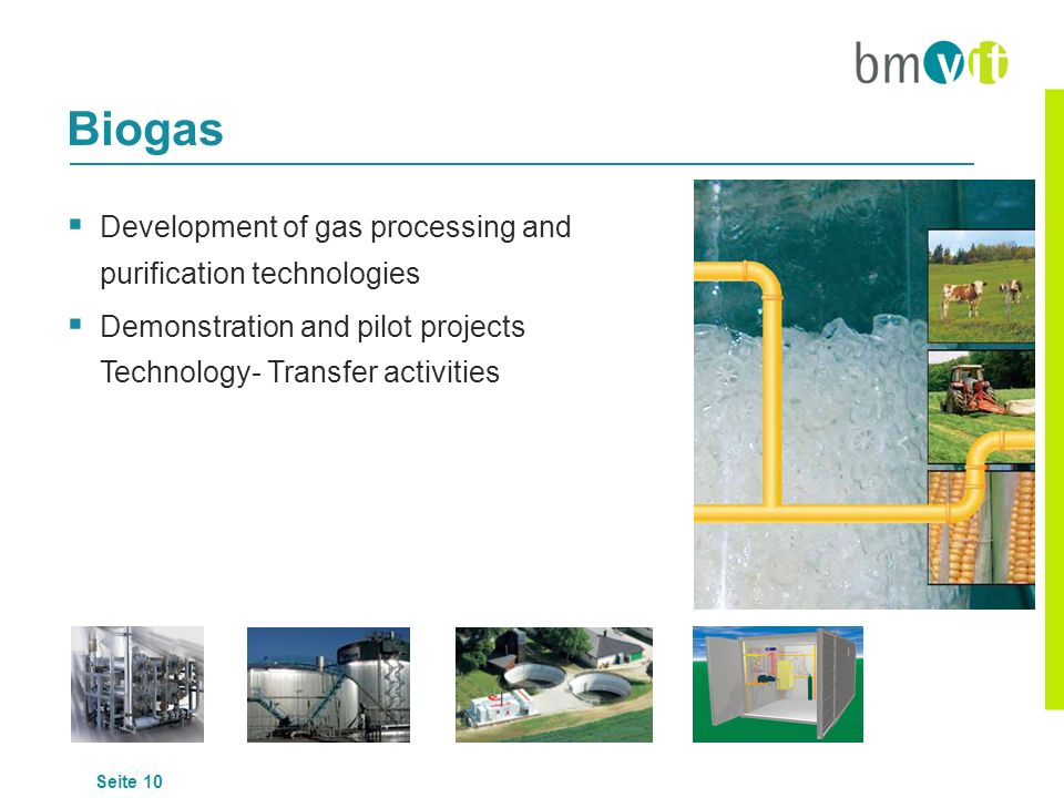 Biogas Development of gas processing and purification technologies