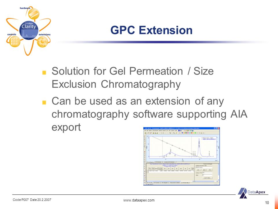 GPC Extension Solution for Gel Permeation / Size Exclusion Chromatography.