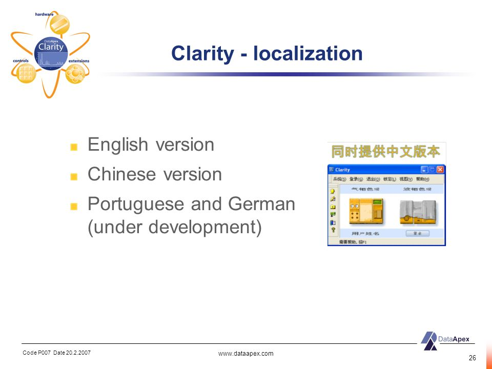 Clarity - localization