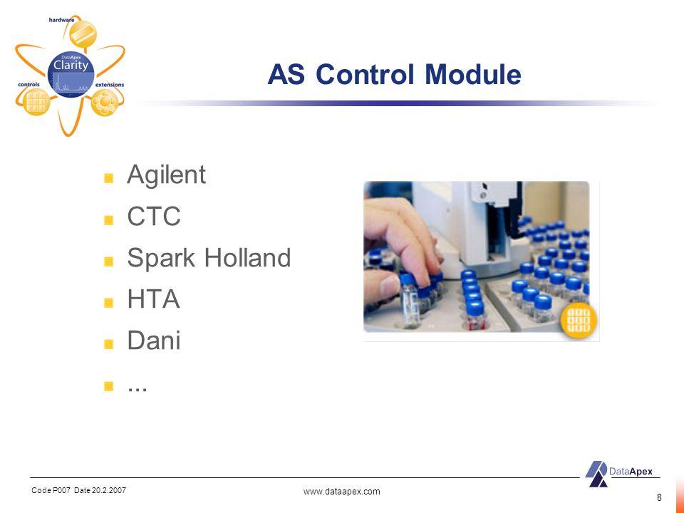 AS Control Module Agilent CTC Spark Holland HTA Dani ...