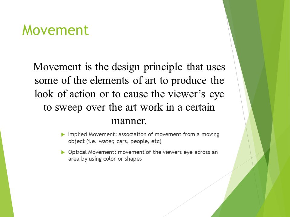 Elements Of Movement : The principles of design ppt video online download