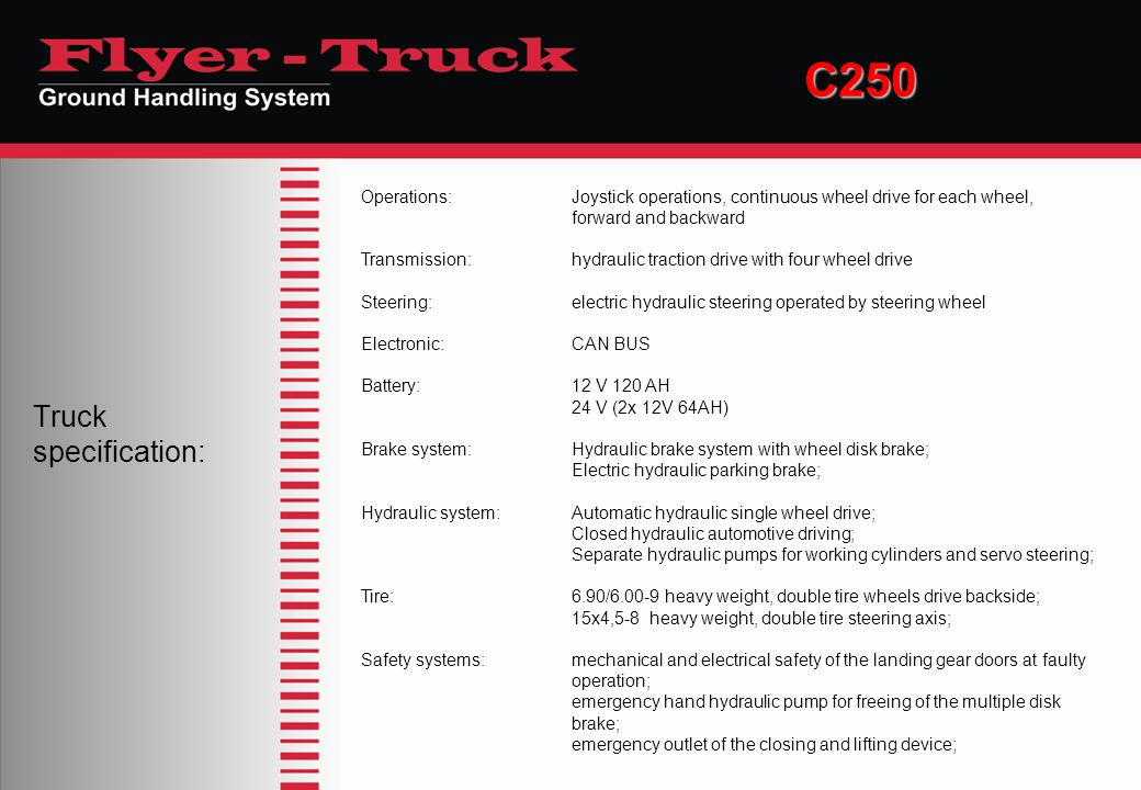 C250 Truck specification: