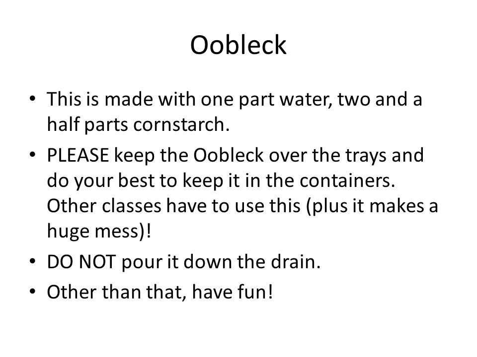 how to make oobleck with flour and water