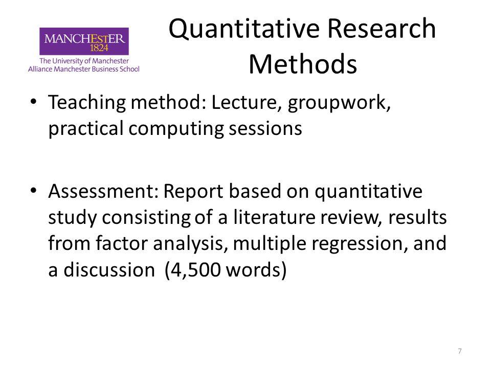 quantitative research business