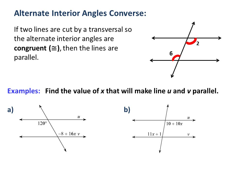 Alternate Interior Angles : Parallel perpendicular lines ppt video online download