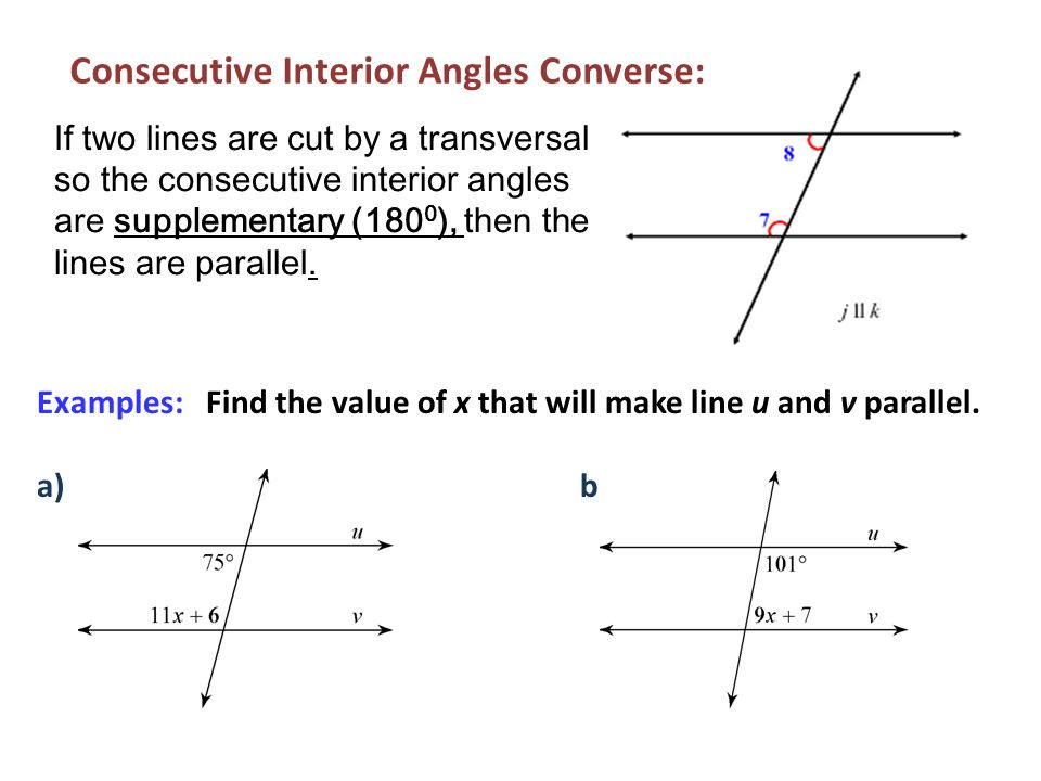 Parallel perpendicular lines ppt video online download for Consecutive exterior angles theorem