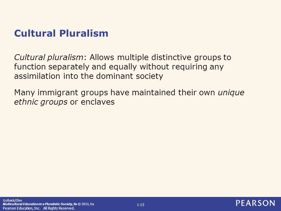 cultural pluralism View and download cultural pluralism essays examples also discover topics, titles, outlines, thesis statements, and conclusions for your cultural pluralism essay.