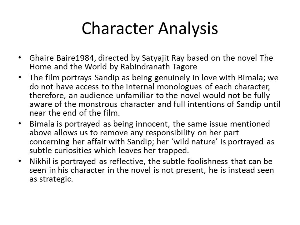 conditional love of bimala and sandip Ghare-baire / the home and the world (1984) foreshadowing bimala's relationship with sandip only sees her only worth in her love or more.