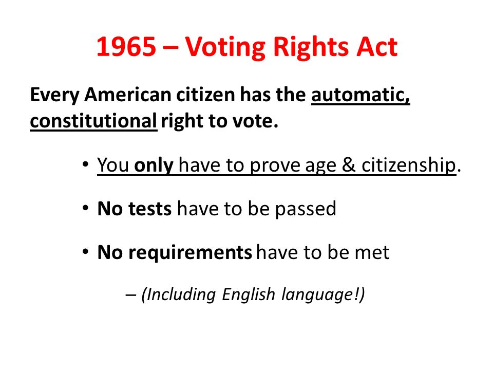 """the right for every citizen to vote The missing right: a constitutional right to vote it would not make every limitation """"the right of citizens of the united states to vote in any primary."""