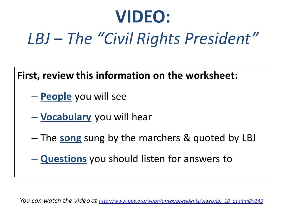 The Civil Rights Movement Goals Achievements II ppt download – Civil Rights Worksheet