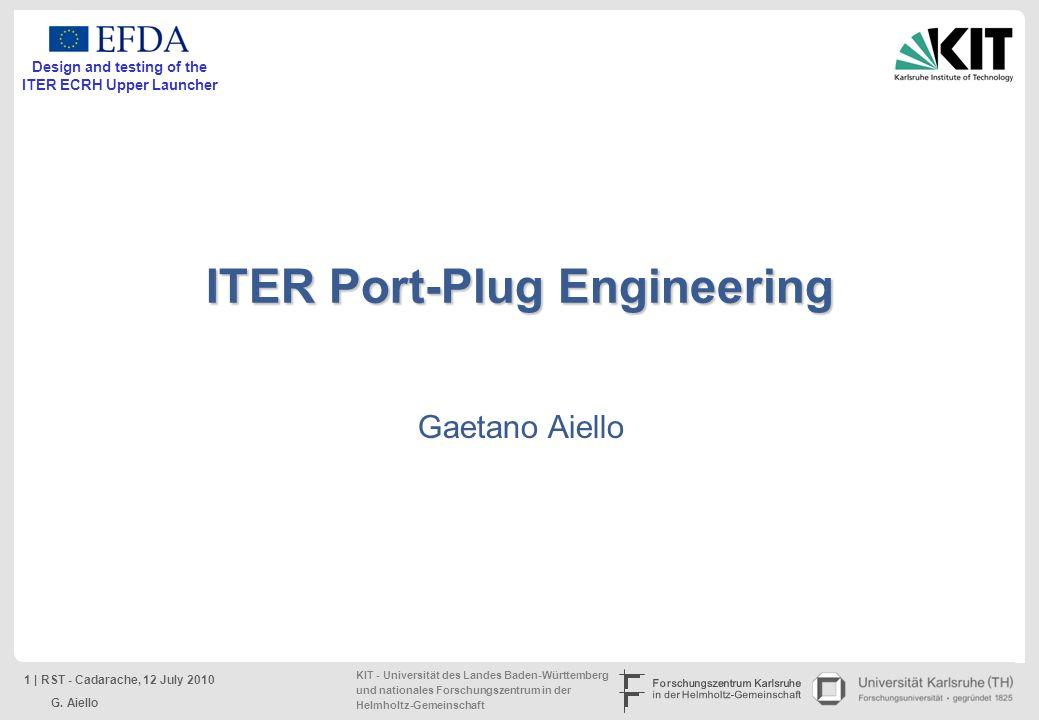 ITER Port-Plug Engineering
