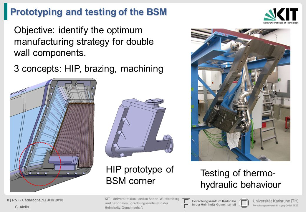 Prototyping and testing of the BSM
