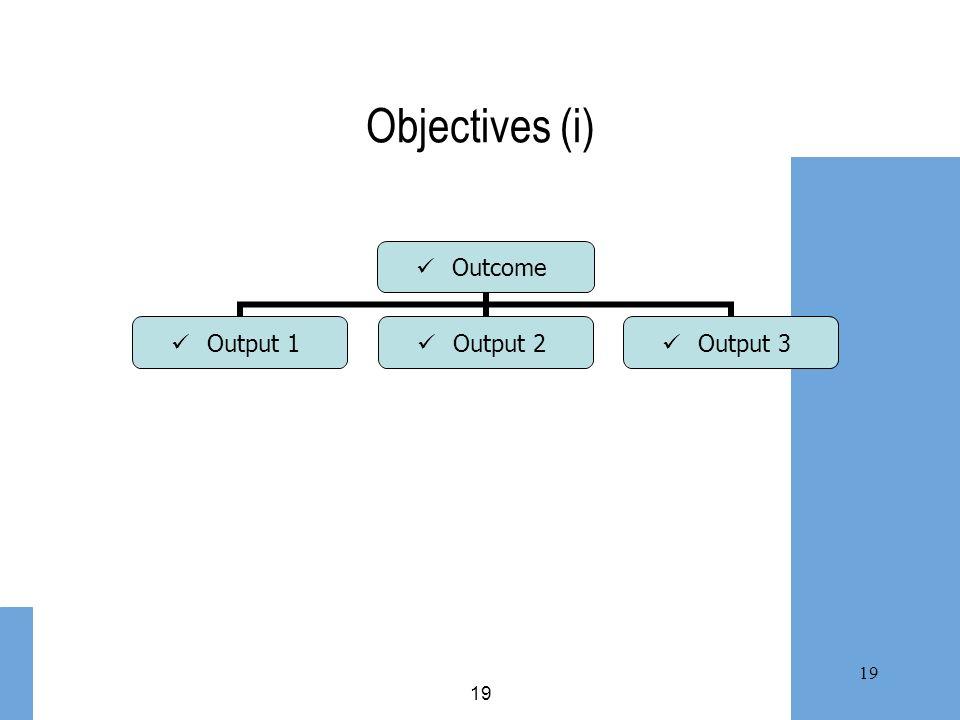 Objectives (i) 19