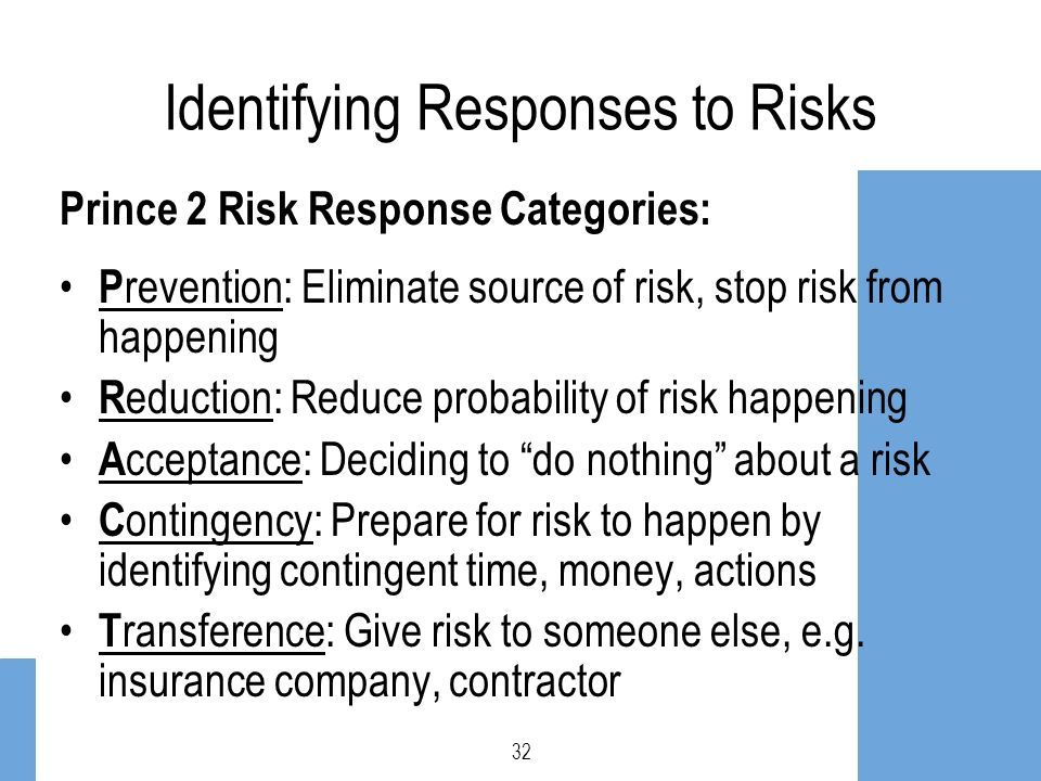 Identifying Responses to Risks