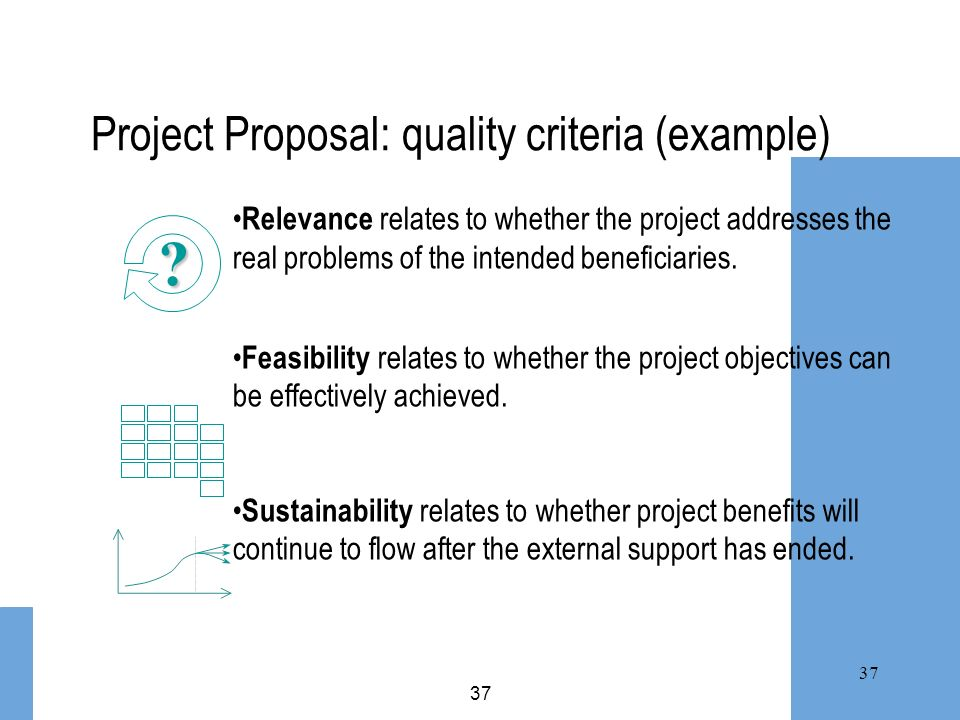 Project Proposal: quality criteria (example)