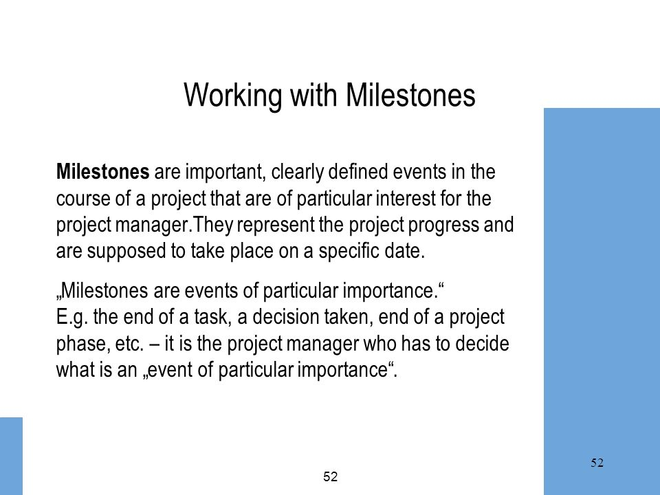 Working with Milestones