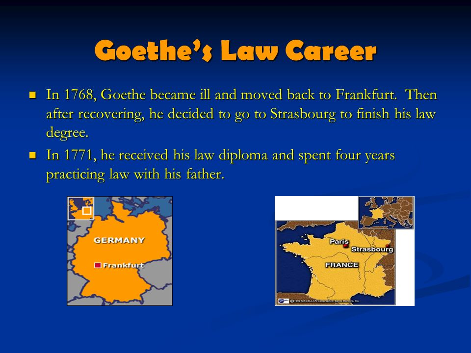 Goethe's Law Career