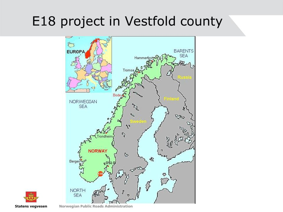 E18 project in Vestfold county