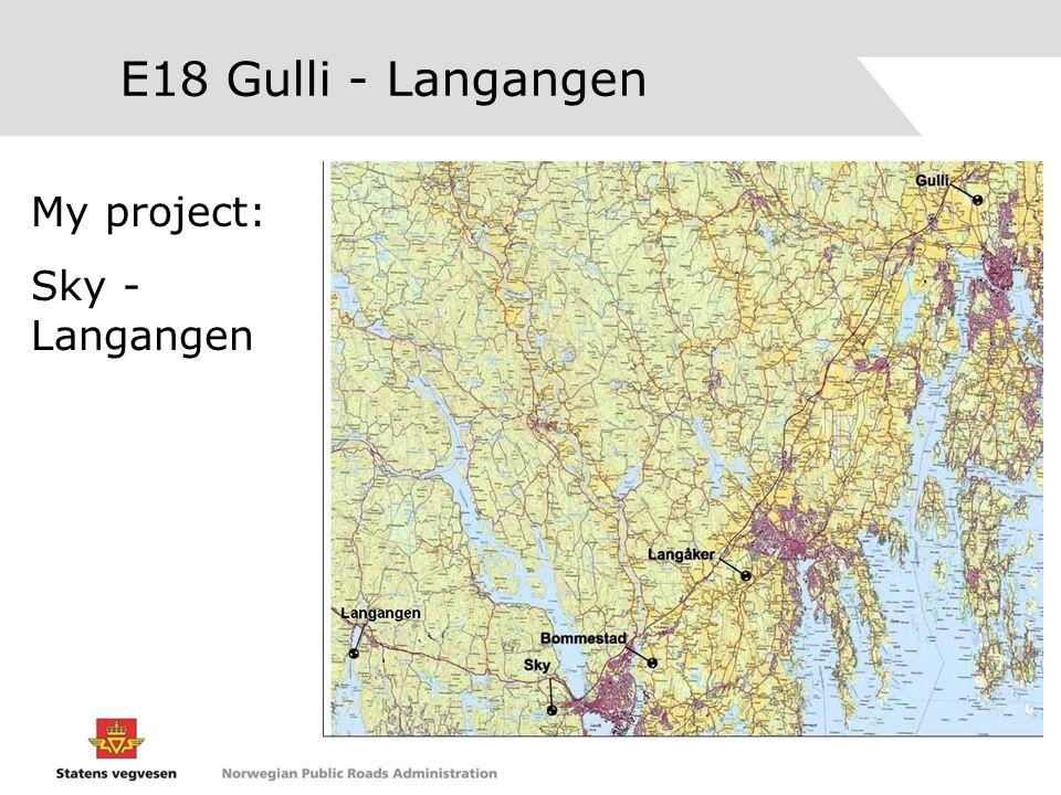 E18 Gulli - Langangen My project: Sky - Langangen