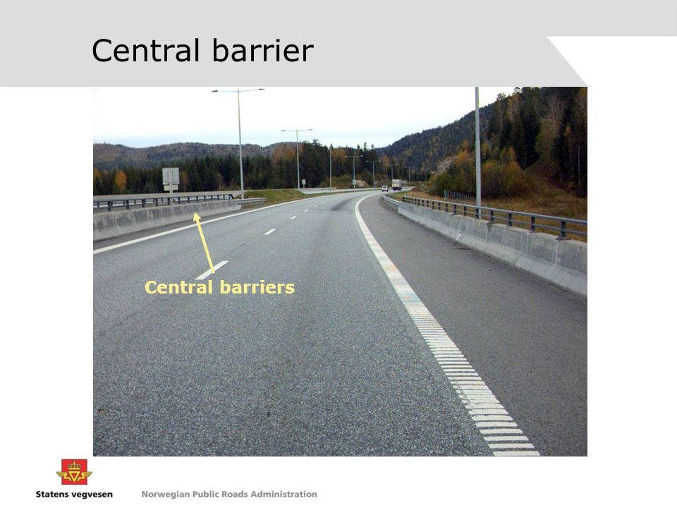 Central barrier Central barriers