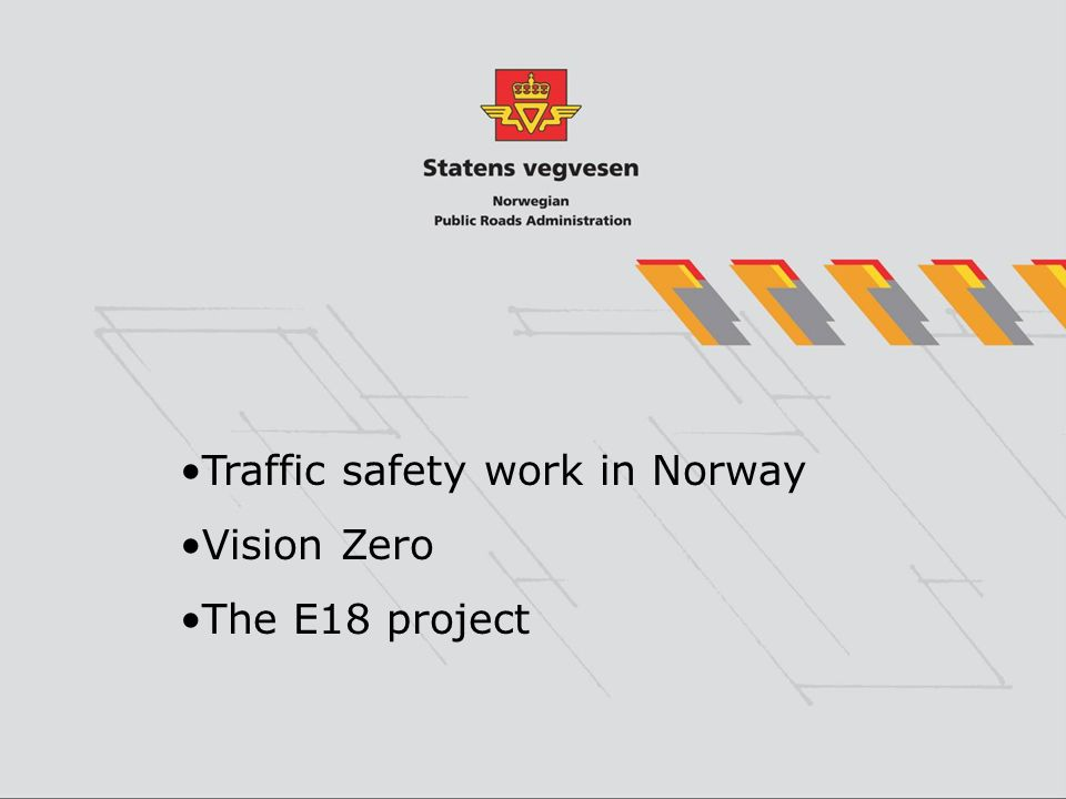 Traffic safety work in Norway