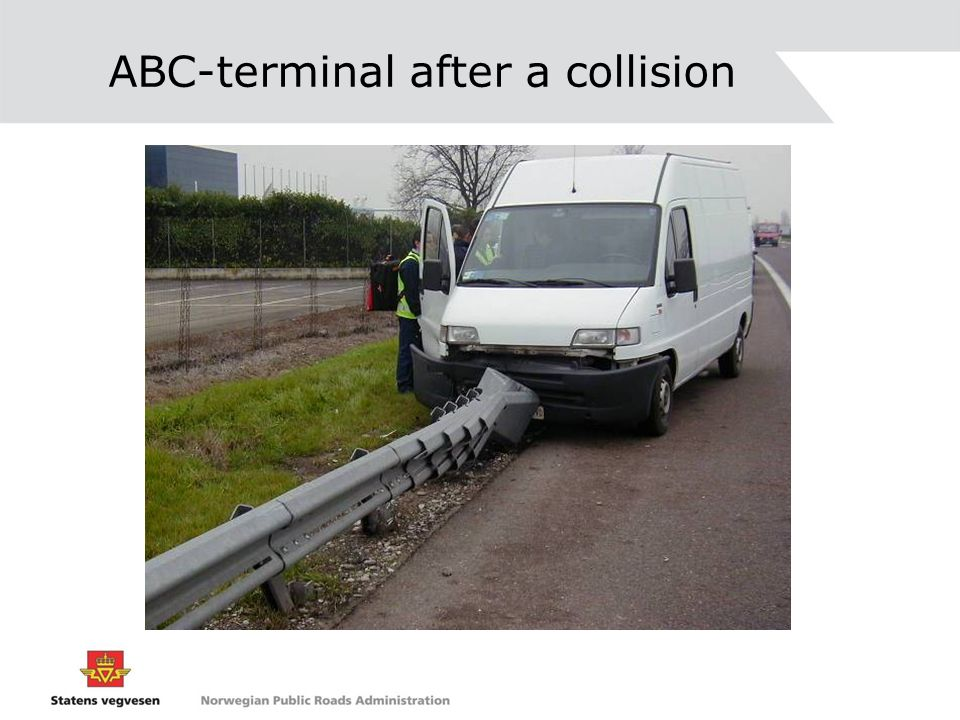 ABC-terminal after a collision