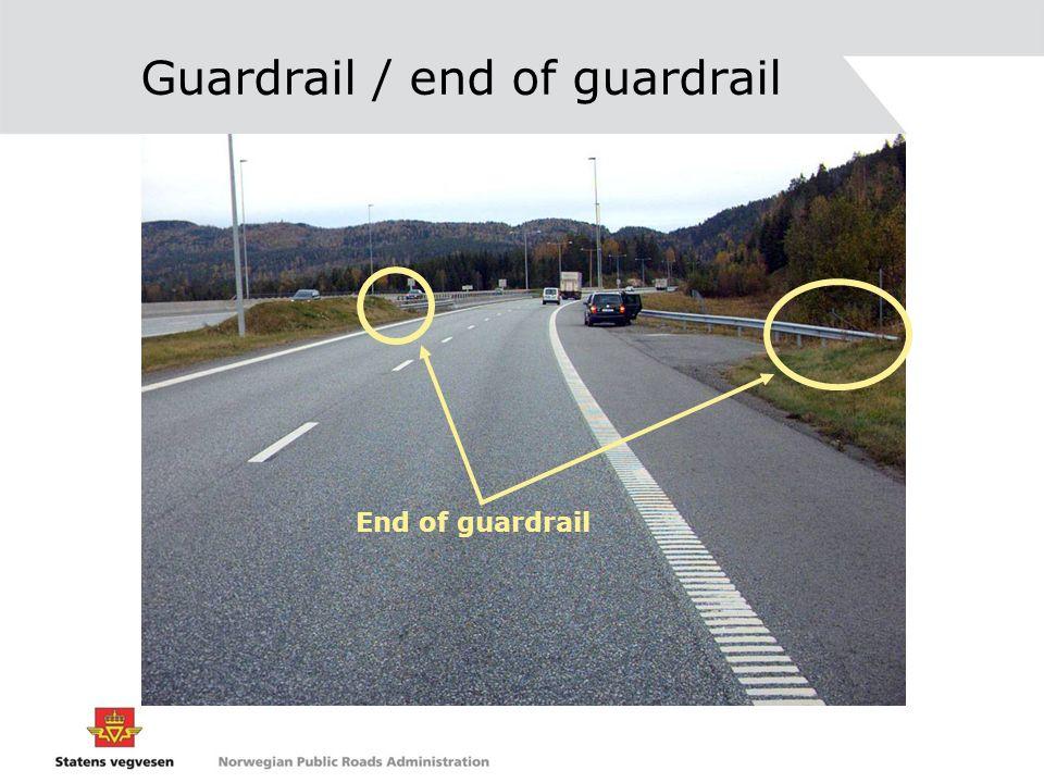 Guardrail / end of guardrail