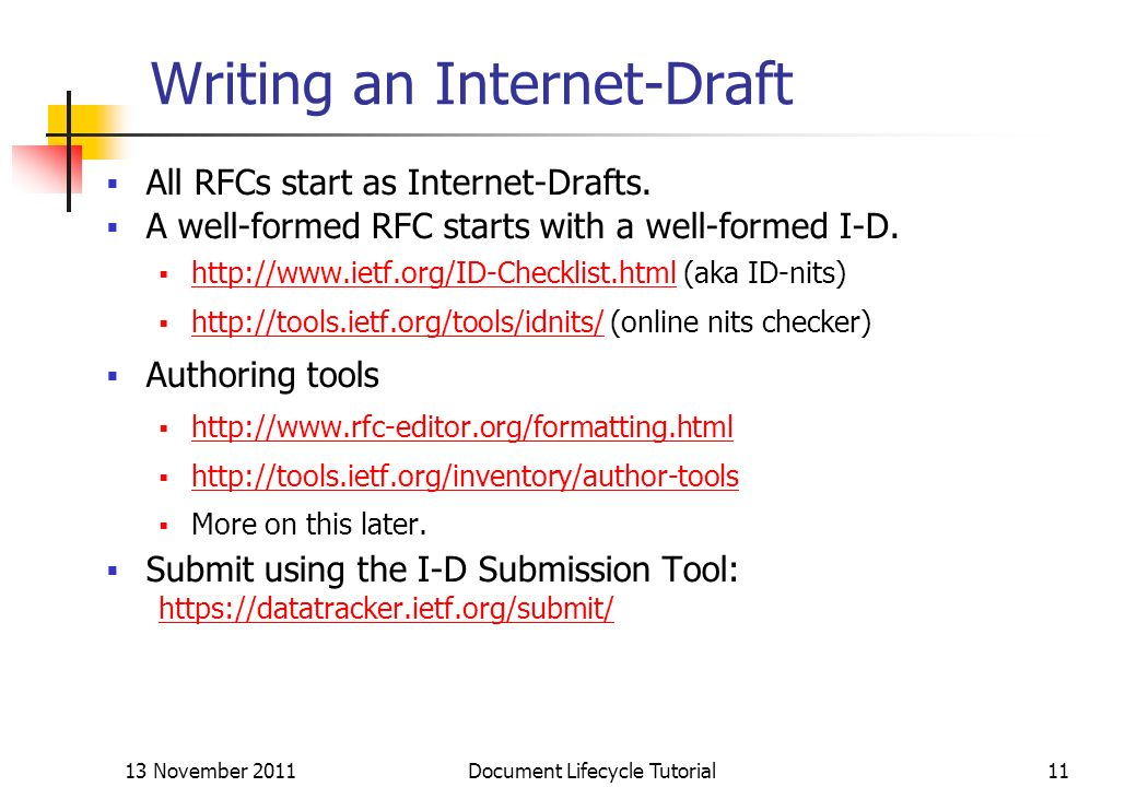 Writing an Internet-Draft