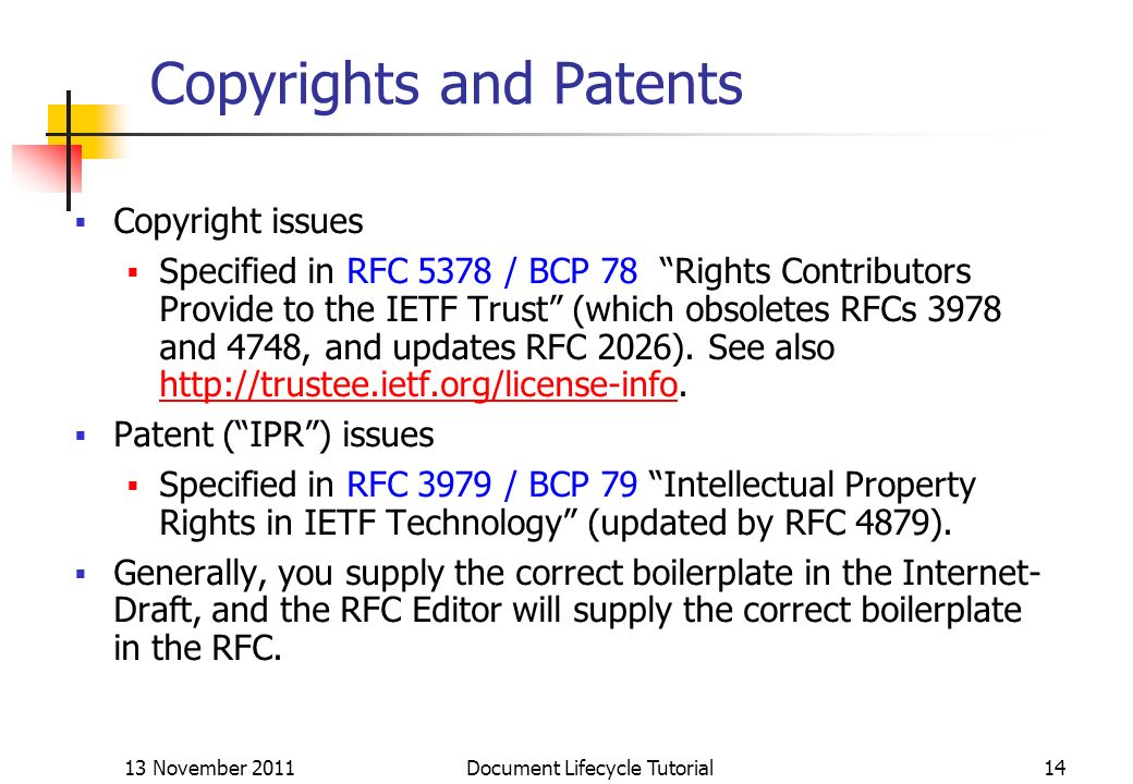 Copyrights and Patents