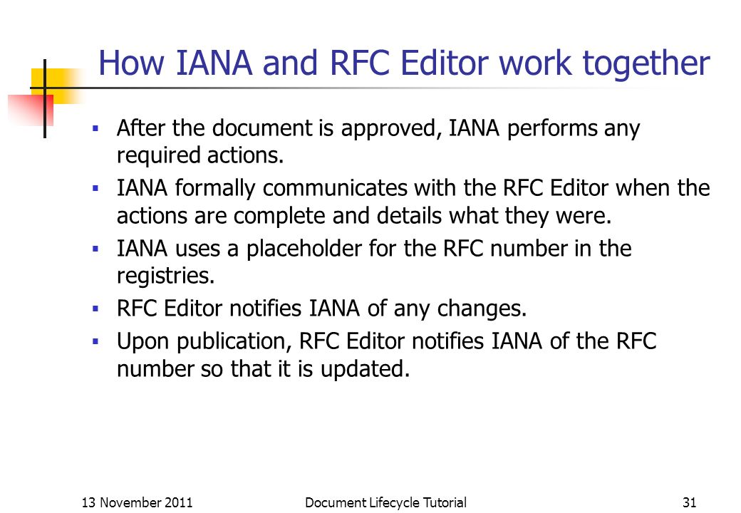 How IANA and RFC Editor work together