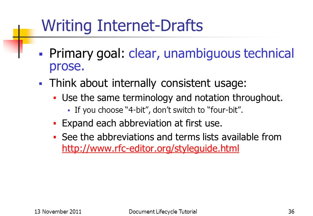 Writing Internet-Drafts