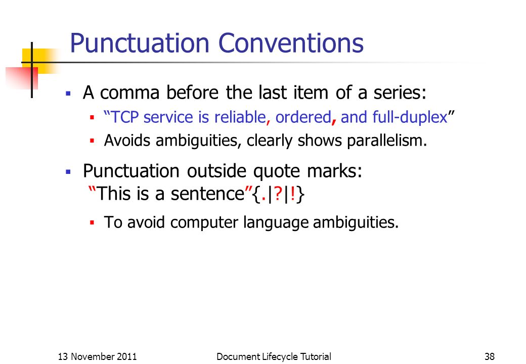 Punctuation Conventions