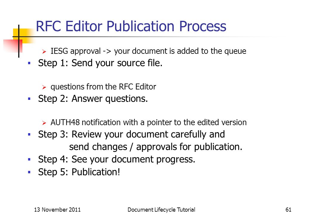 RFC Editor Publication Process