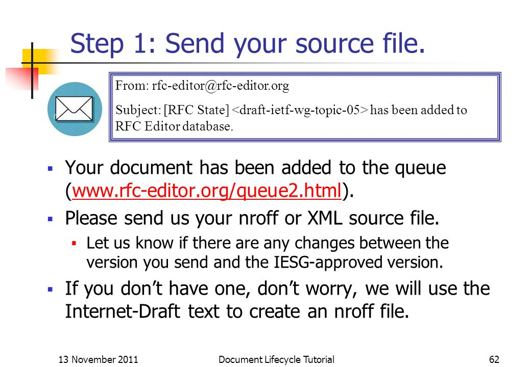 Step 1: Send your source file.
